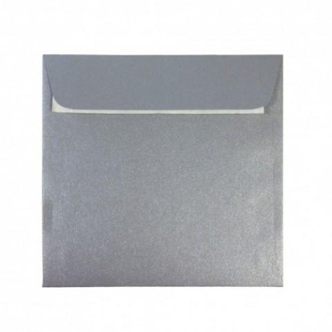 Plic 14x14 cm patrat siliconic, argintiu, Daco