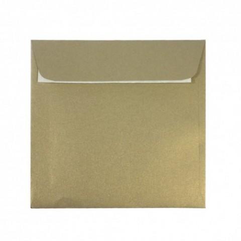 Plic 14x14 cm patrat siliconic, auriu, Daco