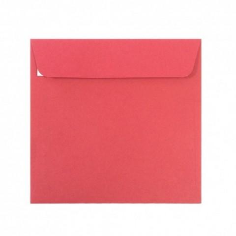 Plic 14x14 cm patrat siliconic, rosu Craciun, Daco