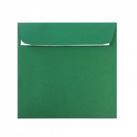 Plic 14x14 cm patrat siliconic, verde padure, Daco