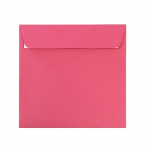 Plic 16x16 cm patrat siliconic, rosu fucsia, Daco