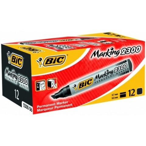 Marker permanent Bic 2300 varf tesit negru
