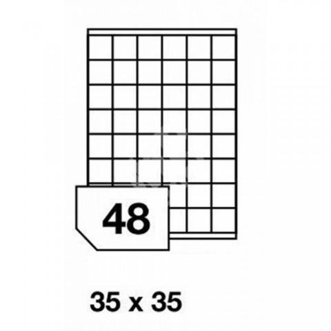 Etichete autoadezive multifuncţionale, 48 buc./A4, dimensiune 35x35 mm