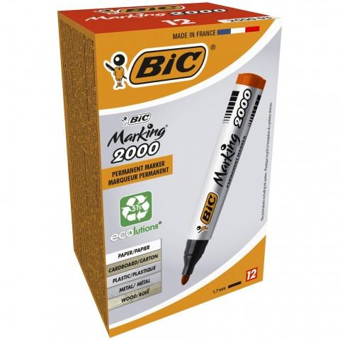 Marker permanent Bic 2000 varf rotund negru