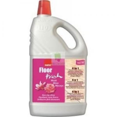 Detergent pardoseli, Floor Musk, trandafir, 2L, Sano