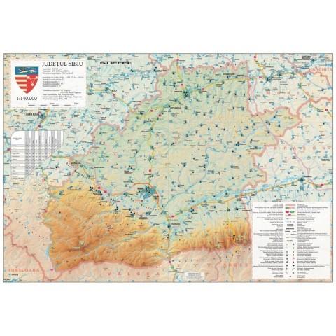 Harta - judeţul SIBIU