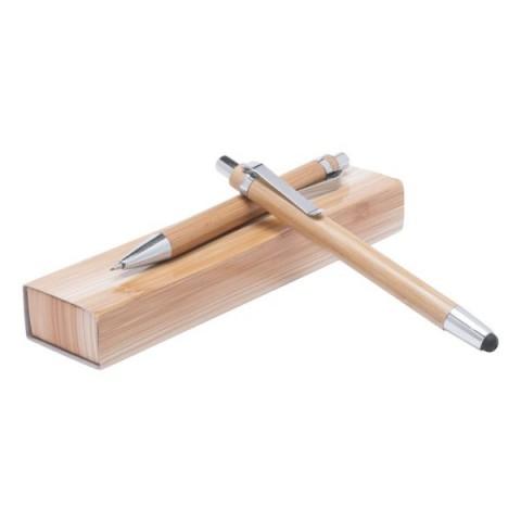 Set de scris personalizat din bambus