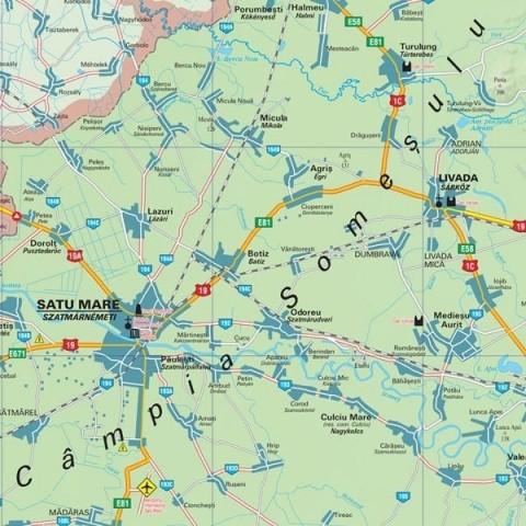 Harta - judeţul SATU MARE