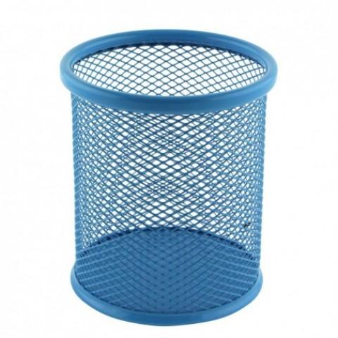 Suport birou cilindric, albastru, Ecada