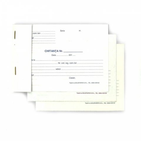 Chitantier autocopiativ, A6, 3 exemplare