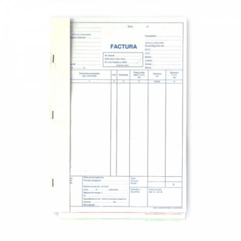 Facturi A4 cu TVA, 150 file