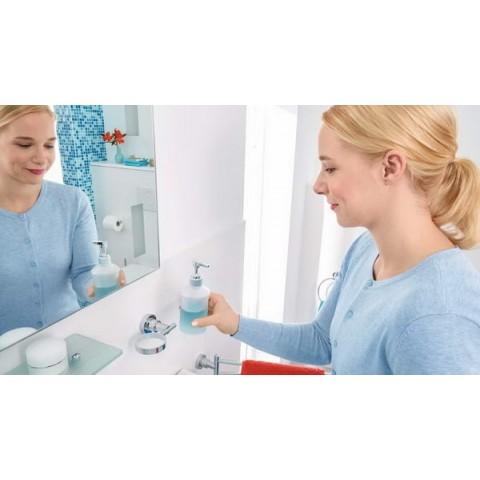 Dozator autoadeziv pentru săpun tesa® Luup, metal cromat