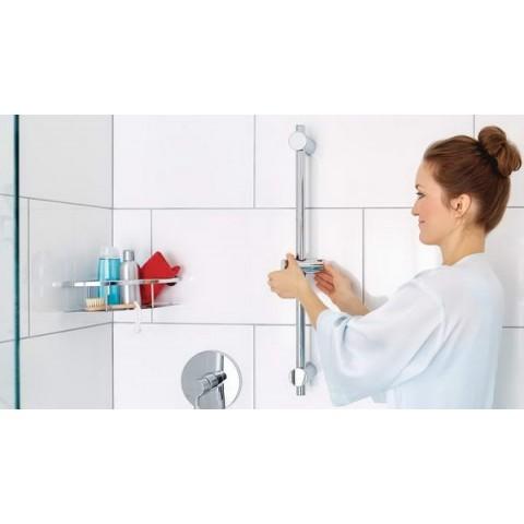 Suport autoadeziv de duș tesa® Spaa, elemente de plastic & metal cromat