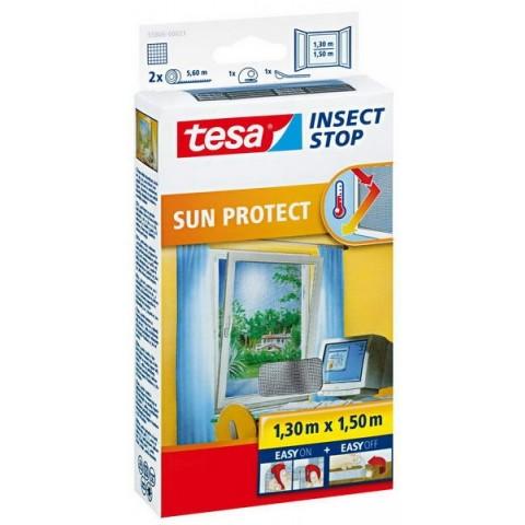 Plasă anti insecte PROTECȚIE SOLARĂ  ferestre, neagră, Tesa, 1.30 m x 1.50 m