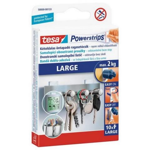 Benzi dublu adezive, Powerstrips®, rezerve mari, Tesa