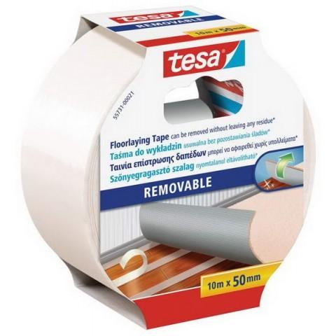 Banda pentru pardoseli demontabila Tesa® 10 m X 50 mm