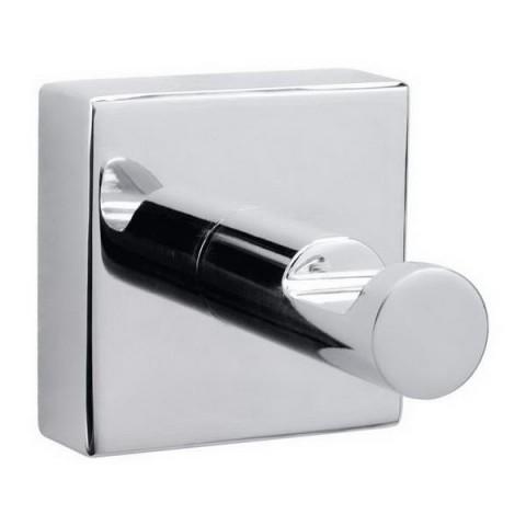 Cârlig autoadeziv pentru prosoape de baie tesa® Hukk, metal cromat, 39mmx39mmx52mm