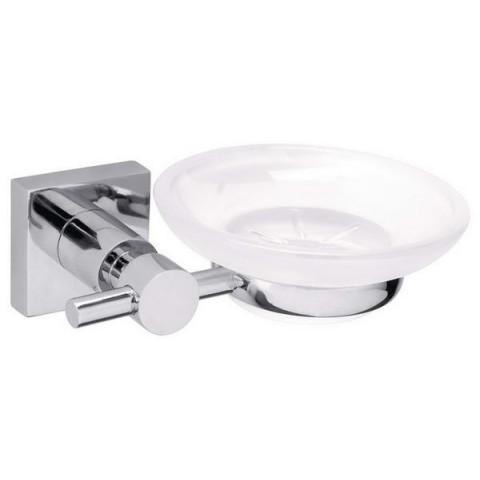 Savonieră autoadezivă pentru baie tesa® Hukk, metal cromat