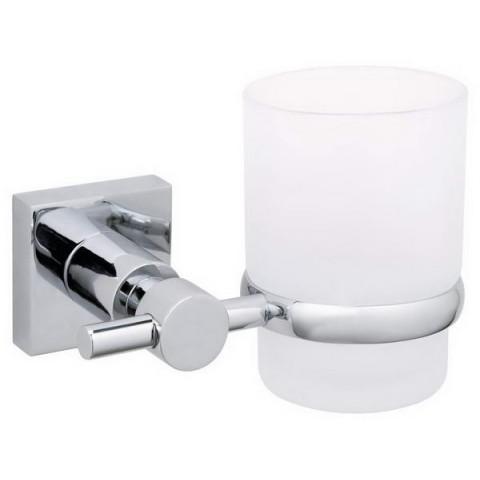 Suport de baie autoadeziv pentru pahar tesa® Hukk, metal cromat