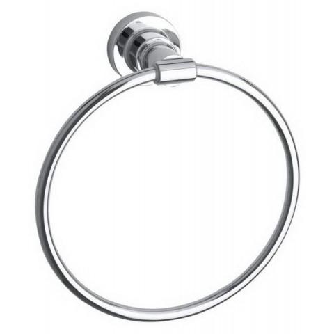 Suport autoadeziv tip inel pentru prosoape tesa® Luup, metal cromat