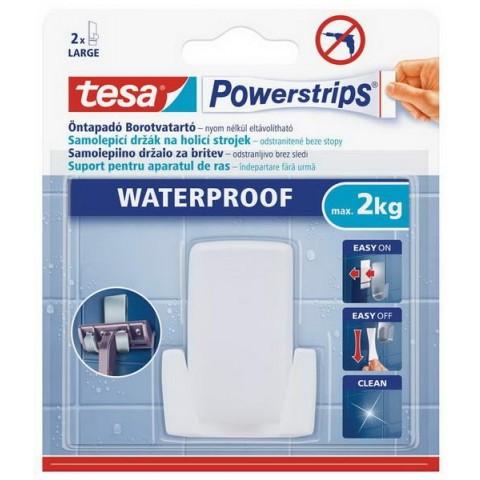 Suport aparat de ras plastic rezistent la apă, alb,Tesa