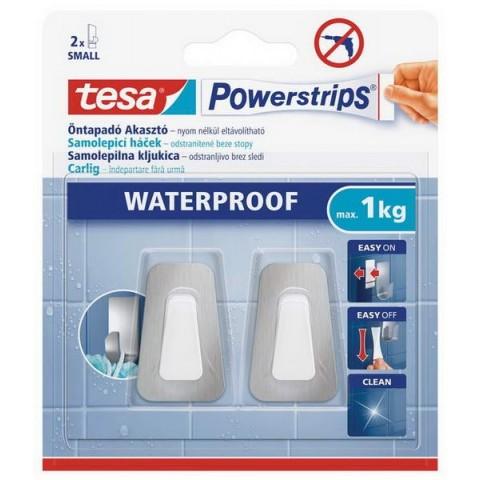 Cârlig mic din metal și plastic, rezistent la apă,Tesa