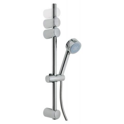 Set autoadeziv pară de duș tesa® Spaa, cu cadru cu pară, elemente metal & plastic cromate