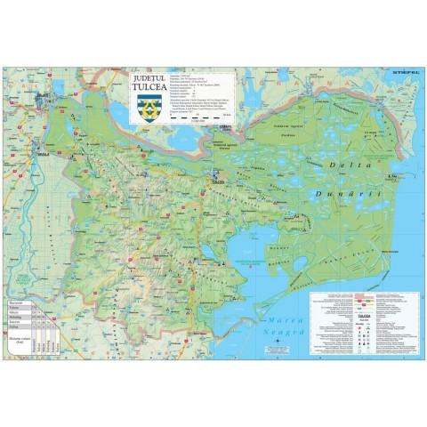 Harta - judeţul Tulcea