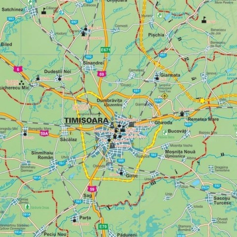 Harta - judeţul TIMIŞ
