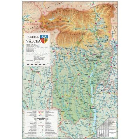 Harta - judeţul Valcea