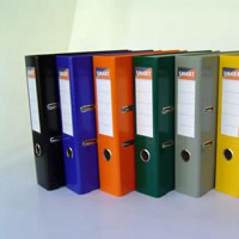 Biblioraft plastifiat cu cotor de 7,5 cm - format A4, cu colturi metalice