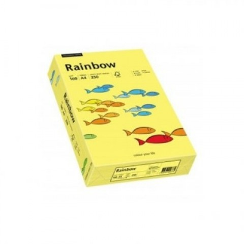 Hartie colorata, galben , A4, 80 g/mp, Rainbow