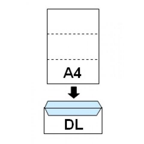 Plic DL, autoadeziv, cu fereastra dreapta, 110 X 220 mm, 1000 bucati