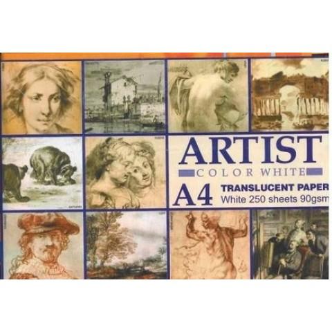 Hartie calc Artist, format A4, 90 g/mp