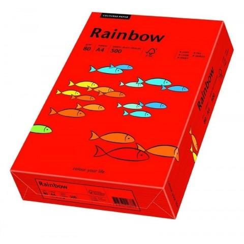 Hartie colorata, rosu intens, A4, 80 g/mp, Rainbow