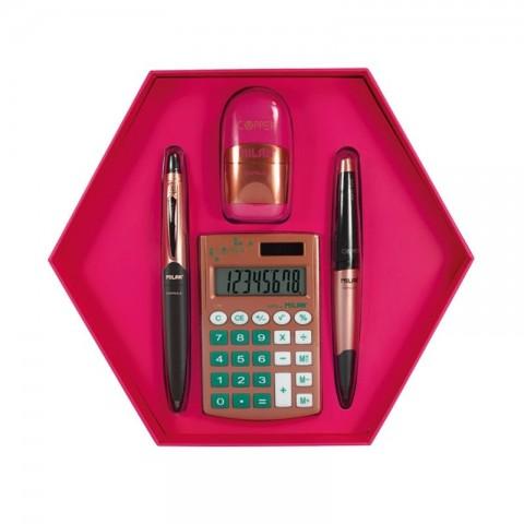 Set cadou calculator, copper, Milan