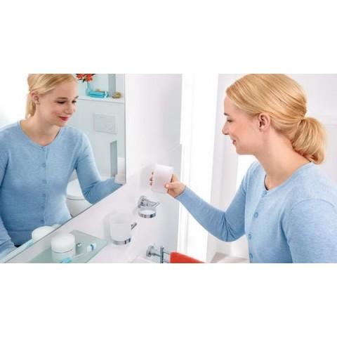 Suport autoadeziv, pentru periuța de dinți, tesa® Luup, metal cromat