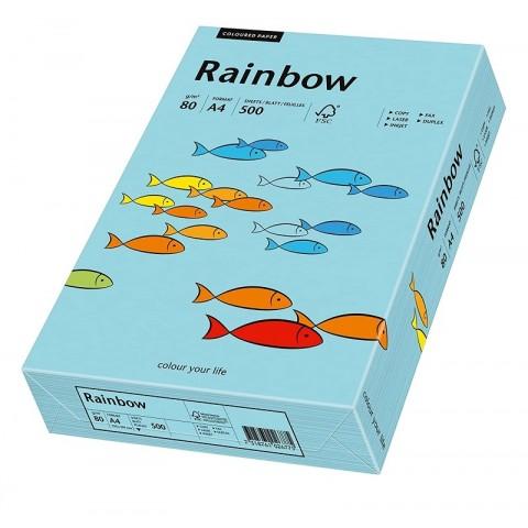 Hartie colorata, albastru mediu, A4, 80 g/mp, Rainbow