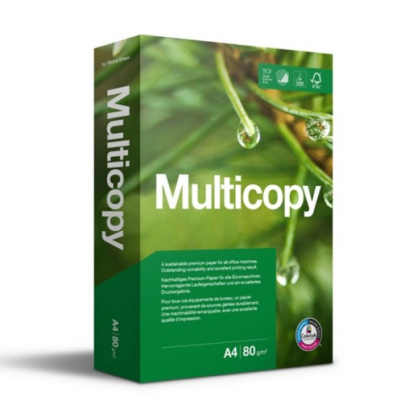 Hârtie Copiator, MultiCopy A3, 80g/mp, 500 coli/top
