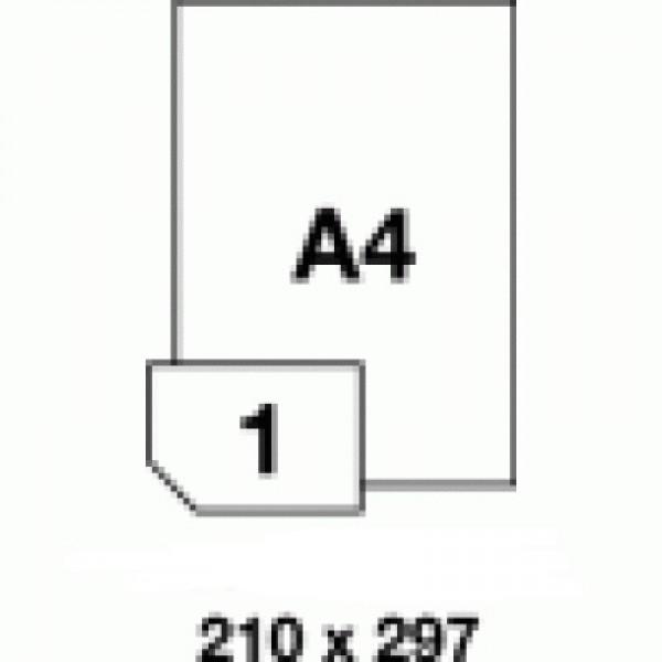 Etichete autocolante superlucioase albe, A4
