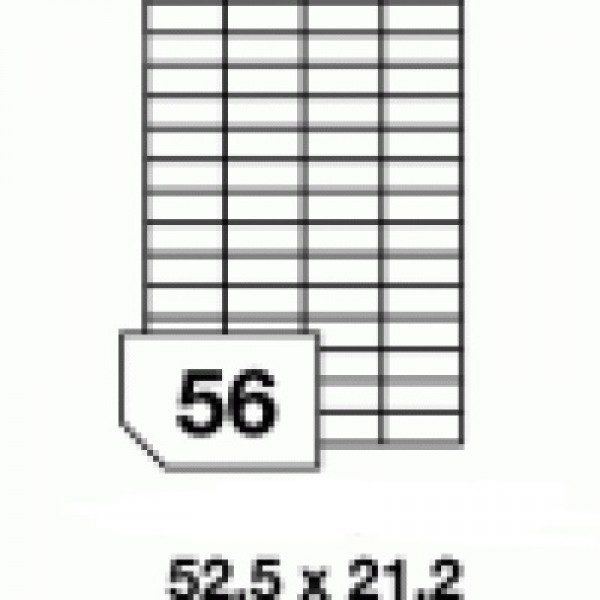 Etichete autoadezive multifuncţionale - 56 buc./A4, dimensiune 52.5x21.2 mm