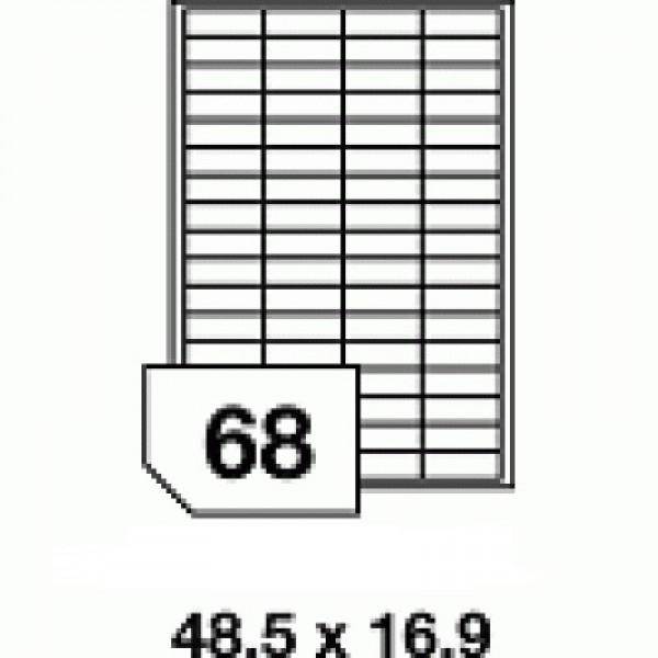 Etichete autoadezive multifuncţionale - 68 buc./A4, dimensiune 48.5x16.9 mm