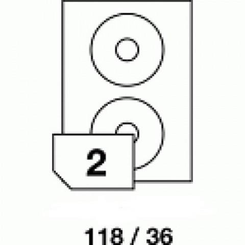 Hârtie autoadezivă pentru CD, dimensiune 118x36 mm