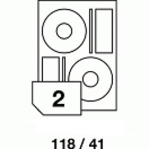 Hârtie autoadezivă pentru CD, dimensiune 118x41 mm