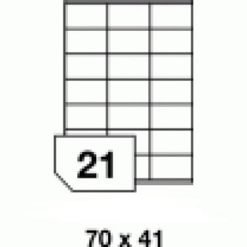 Hârtie autocolantă - 21 buc./A4, dimensiune 70x41 mm