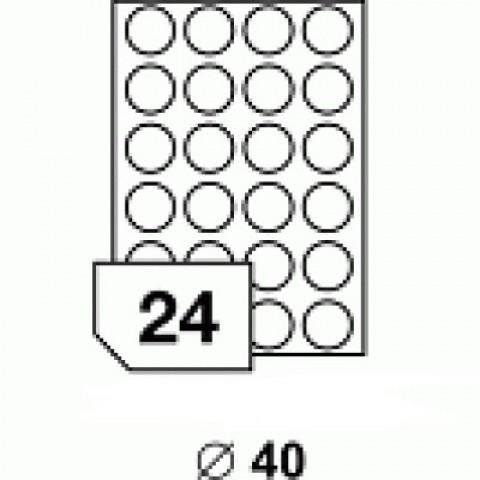 Hârtie autocolantă rotundă 40 mm