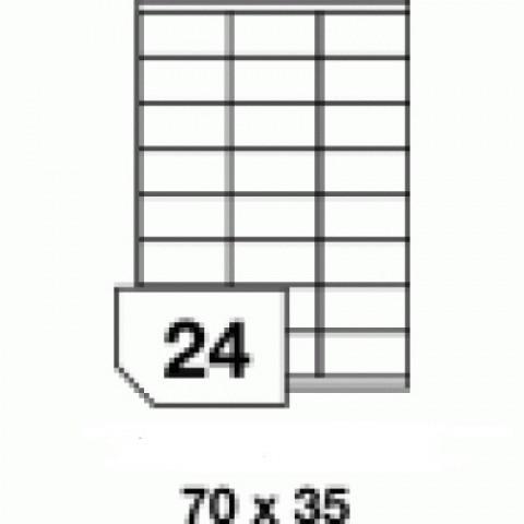 Hârtie autocolantă - 24 buc./A4, dimensiune 70x35 mm