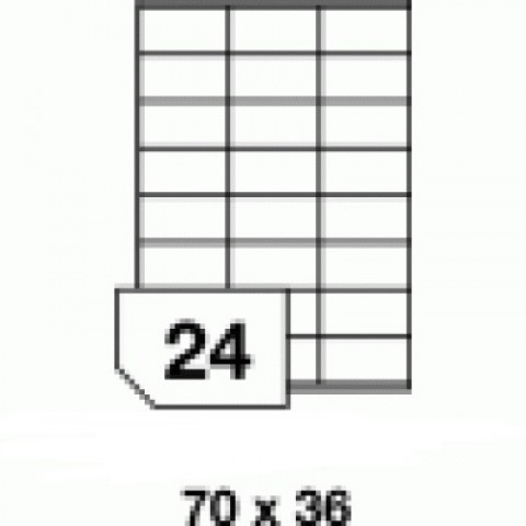 Hârtie autocolantă - 24 buc./A4, dimensiune 70x36 mm