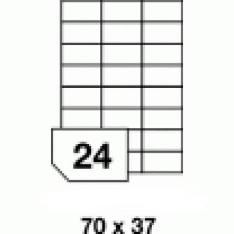 Hârtie autocolantă, 24 buc./A4, dimensiune 70x37 mm
