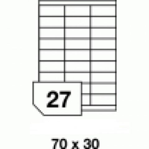 Hârtie autocolantă - 27 buc./A4, dimensiune 70x30 mm